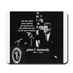 Famous Quote from JFK Mousepad