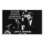 Famous Quote from JFK Rectangle Sticker
