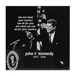 Famous Quote from JFK Tile Coaster