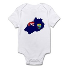 Saint Helena Flag Map Infant Bodysuit