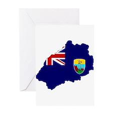 Saint Helena Flag Map Greeting Card