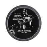 Famous Quote from JFK Wall Clock
