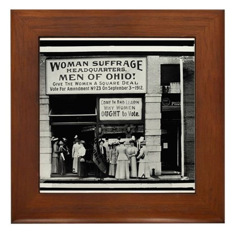 NWP Suffrage Ohio Headquarters Framed Tile