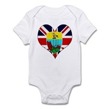 I Love Saint Helena Infant Bodysuit