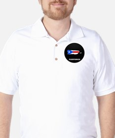 Flag Map of PUERTO RICO T-Shirt