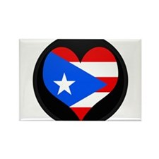 I love PUERTO RICO Flag Rectangle Magnet