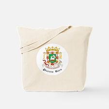 Puerto Rican Coat of Arms Sea Tote Bag