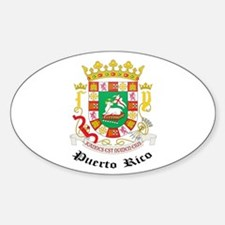 Puerto Rican Coat of Arms Sea Oval Decal