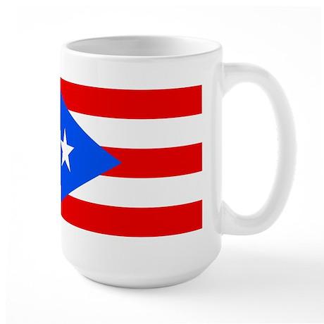 PUERTO RICO Flag Large Mug