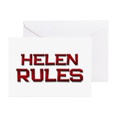 helen rules Greeting Cards (Pk of 10)