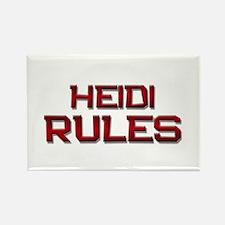 heidi rules Rectangle Magnet