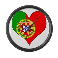 I Love Portugal Large Wall Clock