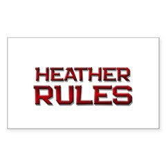 heather rules Rectangle Decal