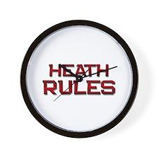 heath rules Wall Clock