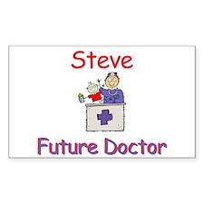 Steve - Future Doctor Rectangle Decal