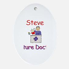 Steve - Future Doctor Oval Ornament