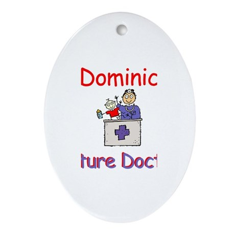 Dominic - Future Doctor Oval Ornament