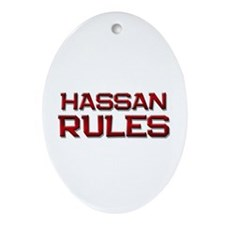 hassan rules Oval Ornament