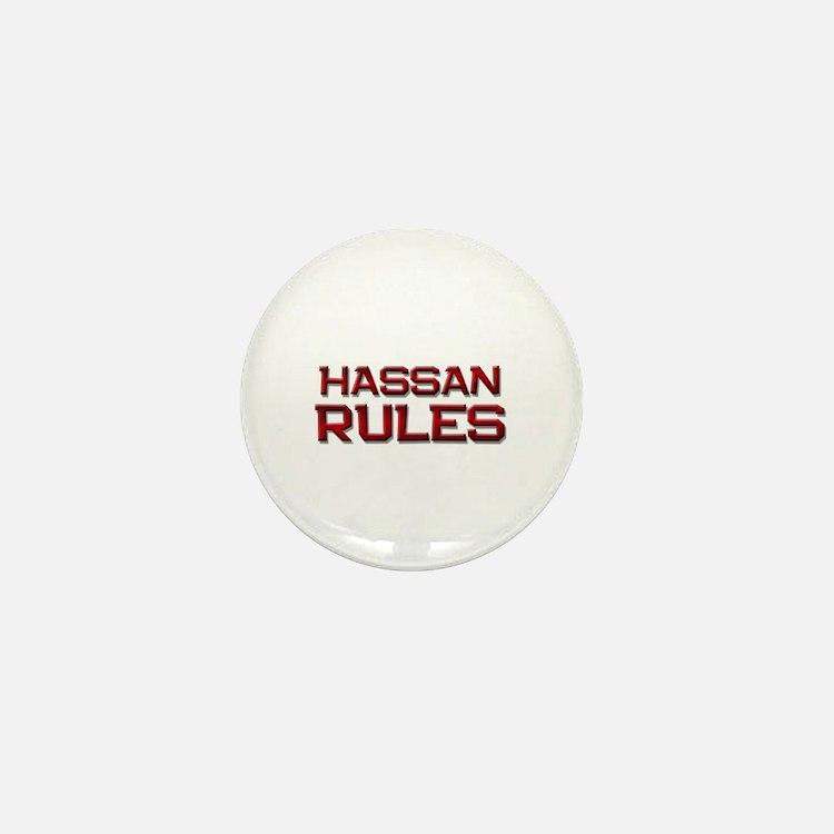 hassan rules Mini Button