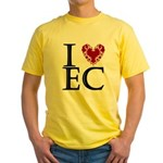 I Luv EC Yellow T-Shirt