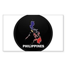 Flag Map of philippines Rectangle Decal