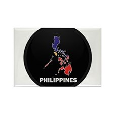 Flag Map of philippines Rectangle Magnet