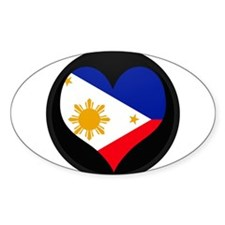 I love philippines Flag Oval Decal
