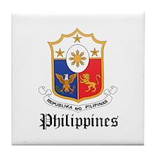 Filipina Coat of Arms Seal Tile Coaster