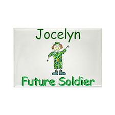 Jocelyn - Future Soldier Rectangle Magnet