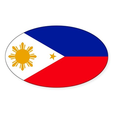 philippines Flag Oval Sticker