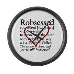 Robsessed Large Wall Clock