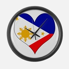 I Love philippines Large Wall Clock