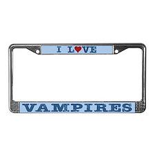 I Love Vampires License Plate Frame