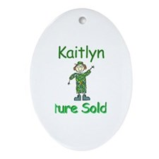 Kaitlyn - Future Soldier Oval Ornament
