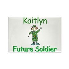 Kaitlyn - Future Soldier Rectangle Magnet