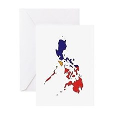 philippines Flag Map Greeting Card