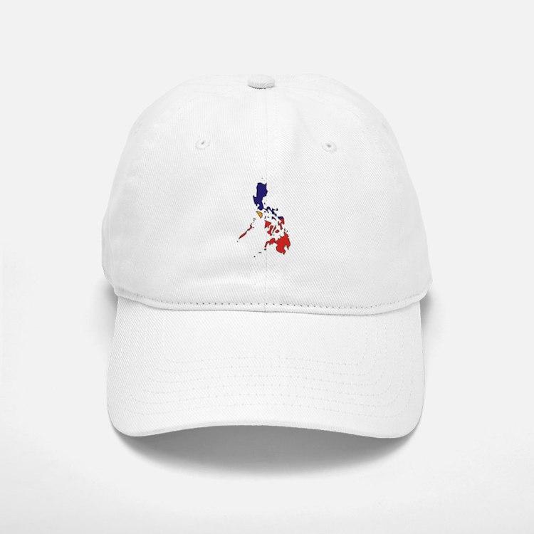 philippines Flag Map Baseball Baseball Cap