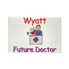 Wyatt - Future Doctor Rectangle Magnet