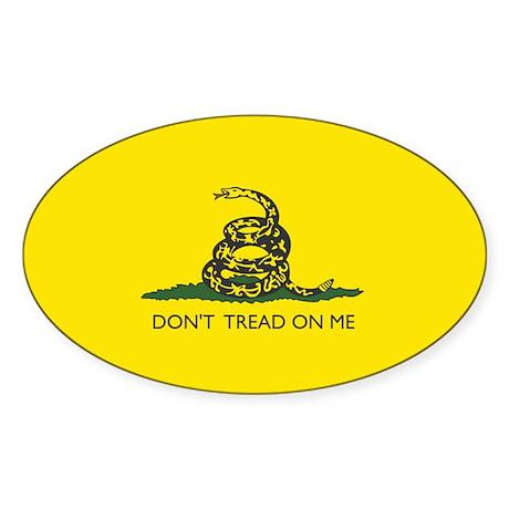 Gadsden Flag Oval Sticker