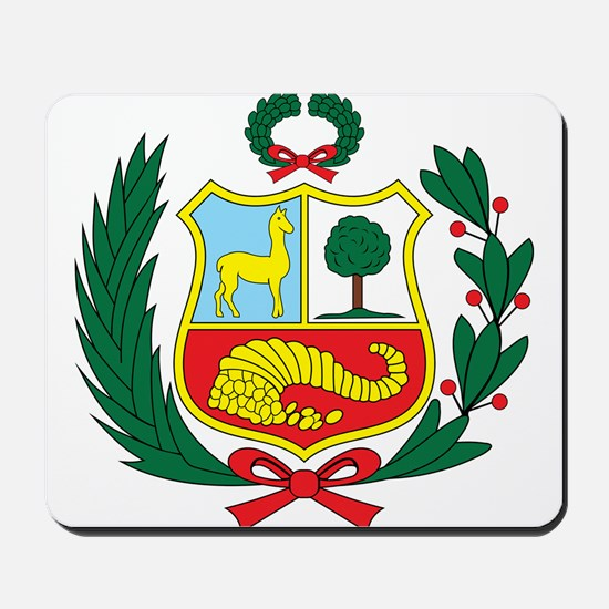 peru Coat of Arms Mousepad
