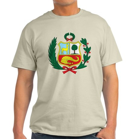 peru Coat of Arms Light T-Shirt