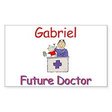 Gabriel - Future Doctor Rectangle Decal