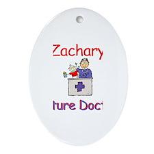 Zachary - Future Doctor Oval Ornament