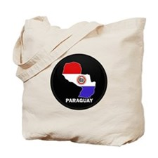Flag Map of Paraguay Tote Bag