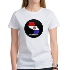 Flag Map of Paraguay Tee