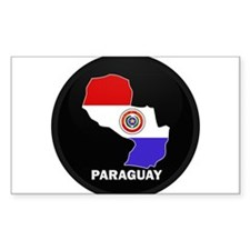 Flag Map of Paraguay Rectangle Decal