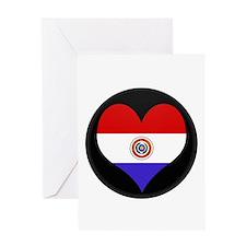 I love Paraguay Flag Greeting Card