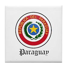 Paraguayan Coat of Arms Seal Tile Coaster