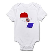 Paraguay Flag Map Infant Bodysuit