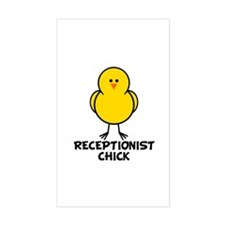Receptionist Chick Rectangle Decal